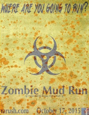 Sanford North Carolina Rogue Alpha Rush Zombie Mud Run 2015