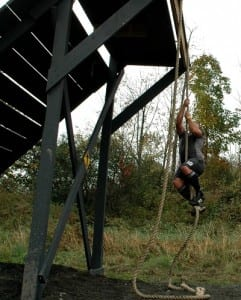 OBSTACLE-ROPE CLIMB TO PLATFORM & RAMP