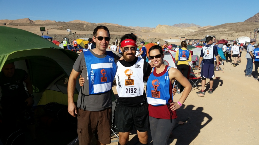 racer and crew at World's Toughest Mudder