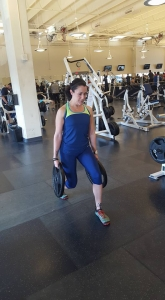 """""""Honey Badger"""" building leg strength with weighted lunges."""